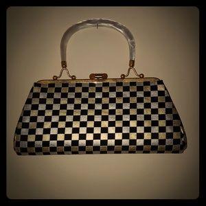 Vintage checkerboard handbag